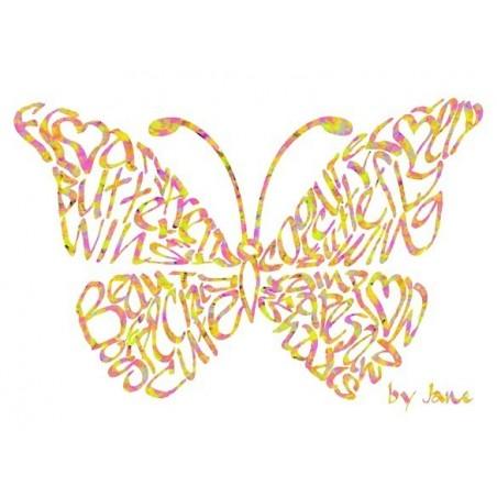 Tarxeta da bolboreta Confetti