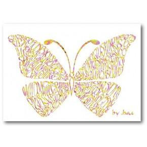 Konfetti Schmetterlings-Karte