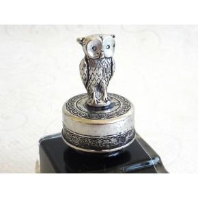 Pewter Owl Ink Bottle