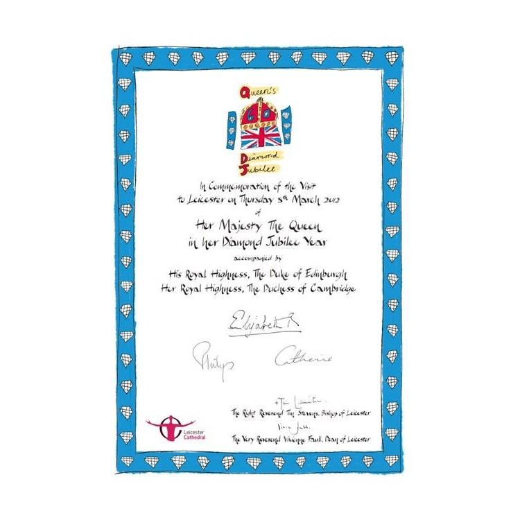 Diamond Jubilee Certificaat