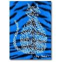 Electric Blue Cat Tiger