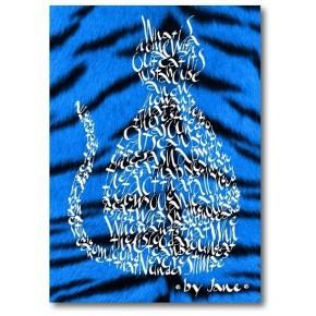 Azul Eléctrico Gato Tigre