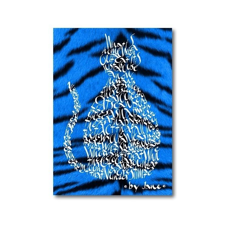 Electric Blue Tiger Cat
