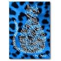 Azul Eléctrico Gato Leopardo