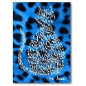 Blau Elèctric Gat Lleopard