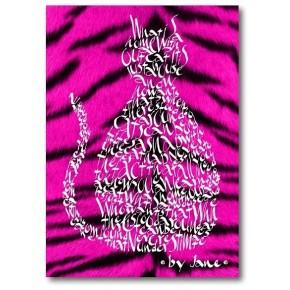 Cerise roze tijgerkat
