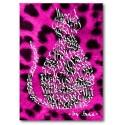 Cat Cerise Pink Leopard