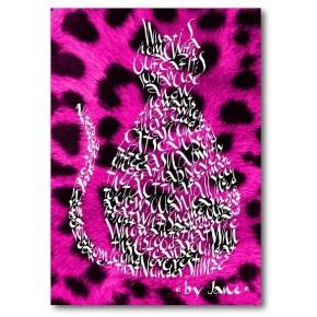 Kirschrot Rosa Leoparden Katze