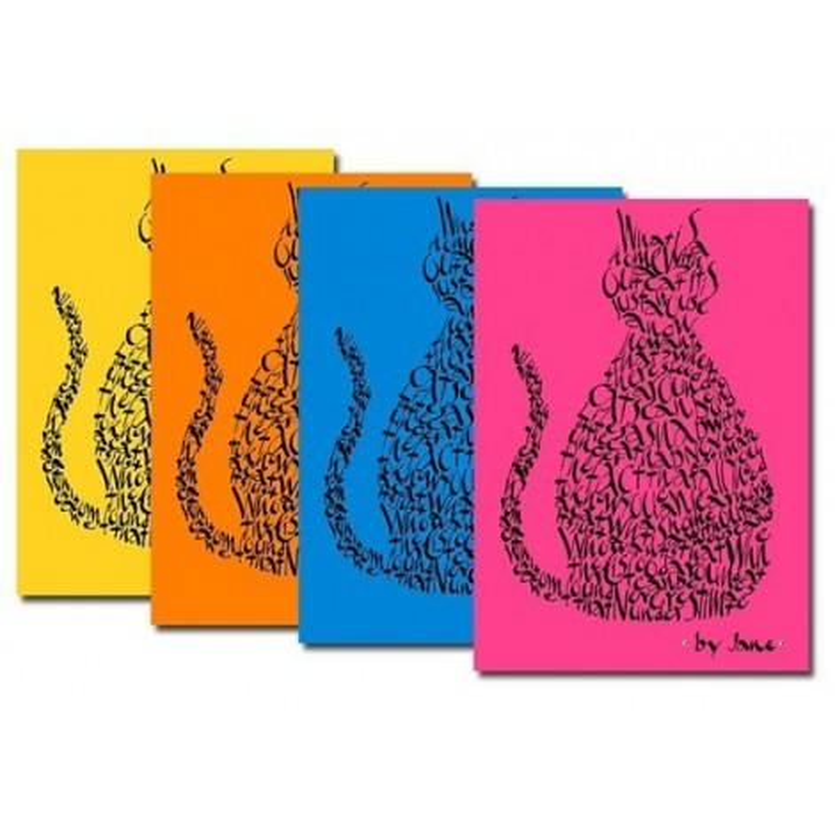 Kat Notelets In Heldere Kleuren