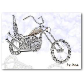 """Old Skool"" Motorrad"