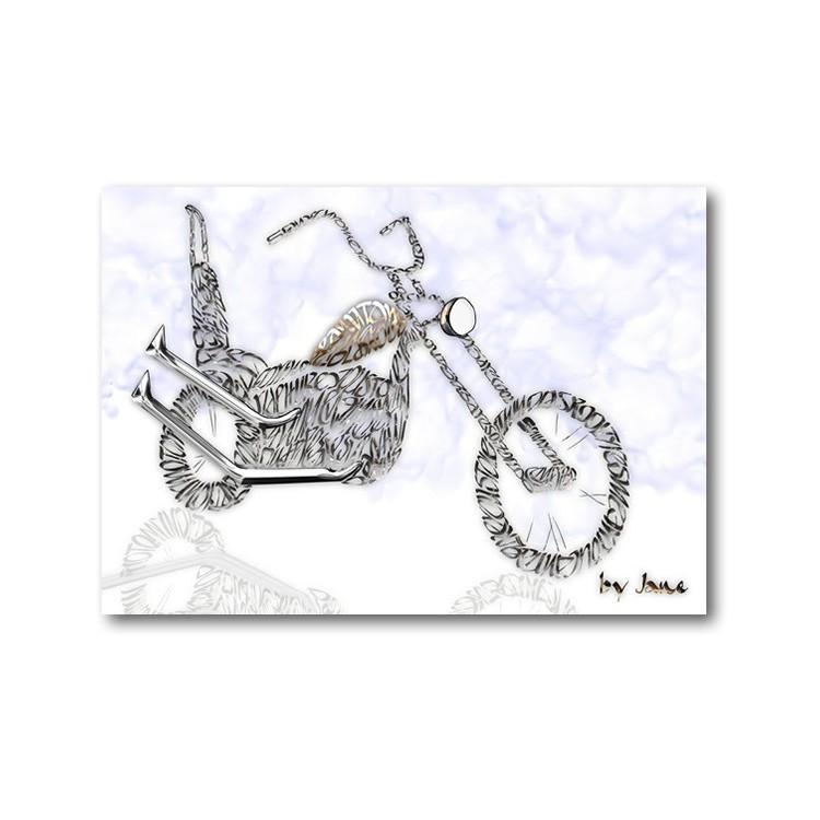 """""""Old skool"""" motorcykel kort"""