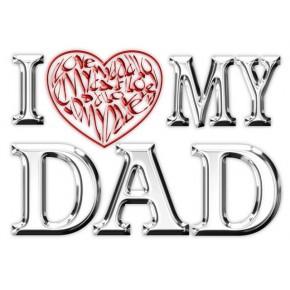 Je aime (coeur) mon papa