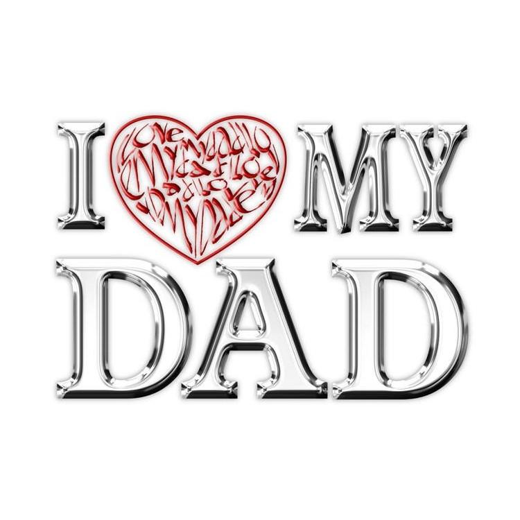 Ich liebe (Herz) meinen Vater