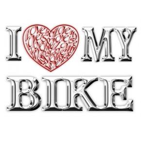 Jag älskar (hjärta) min motorcykel