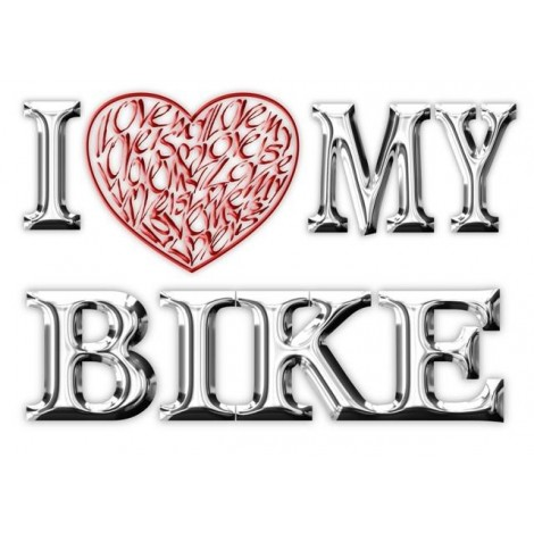 Amo (corazón) mi motocicleta