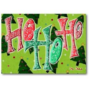 Ho Ho Ho - julkort