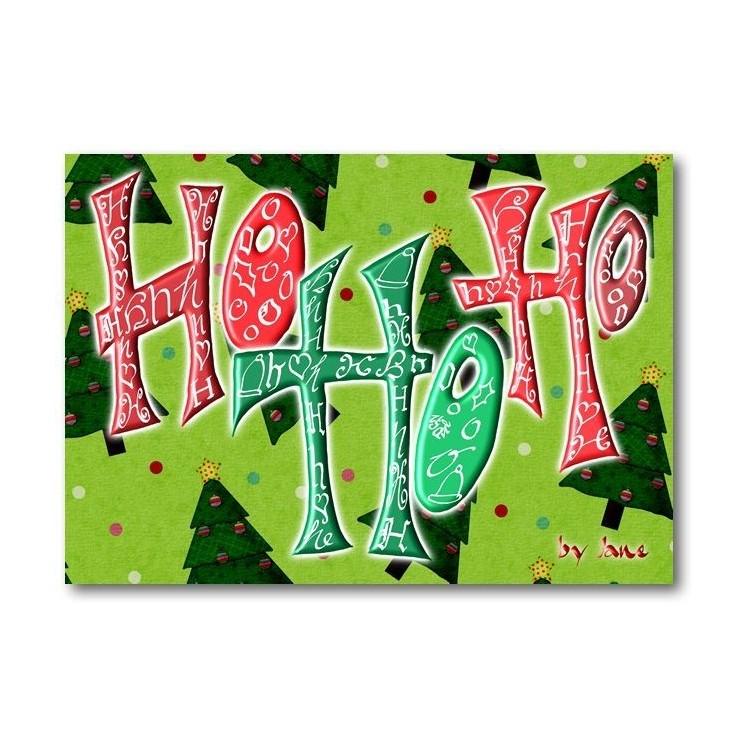 Ho Ho Ho - Christmas Card