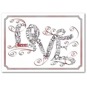 Liefde wervelt Card