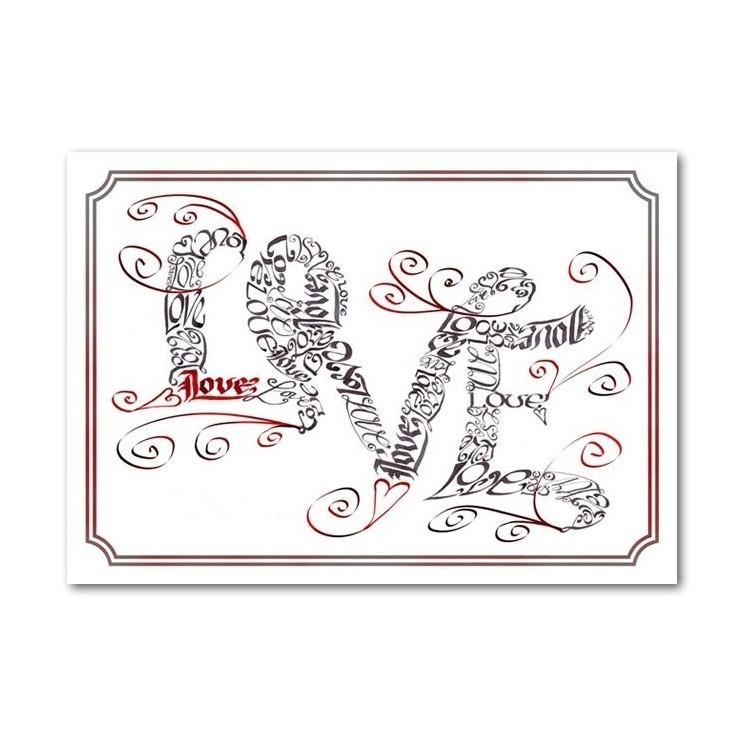 Kärlek virvlar runt kortet