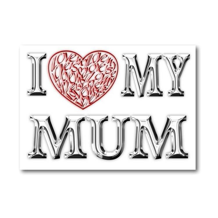 Jag älskar (hjärta) min mamma