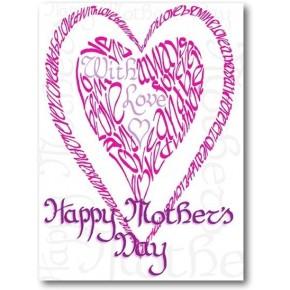 Le jour de mère heureux en rose
