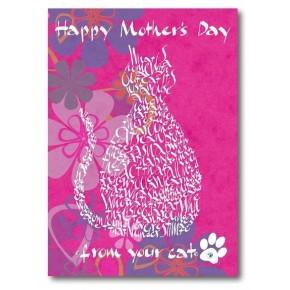 Lycklig mors dag från din katt