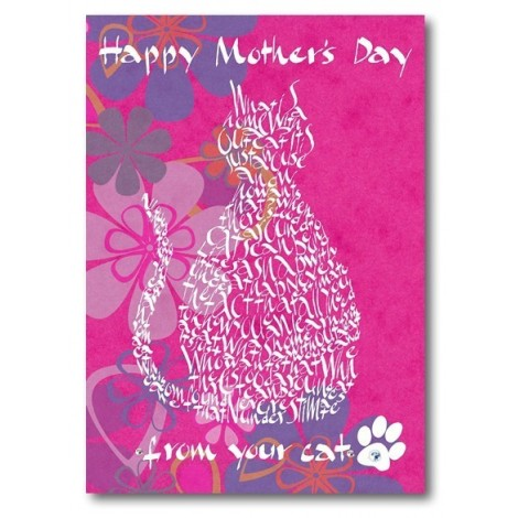Feliç Dia de la Mare De La seva Gat