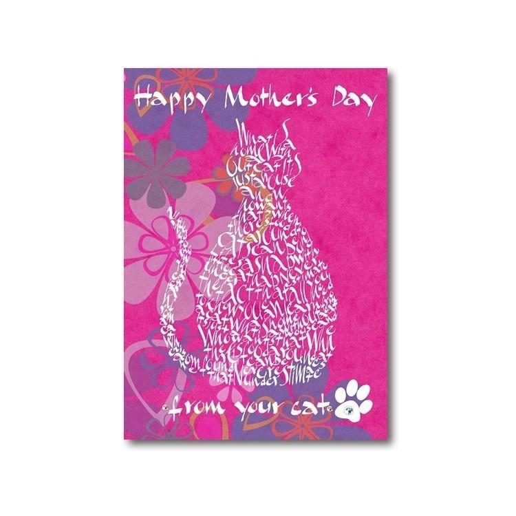 Giorno della madre felice dal vostro gatto