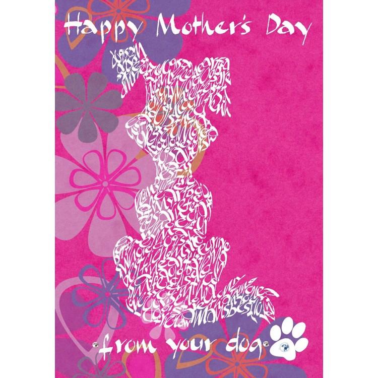 Giorno della madre felice dal vostro cane