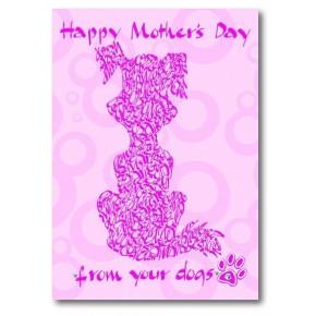 Feliç Dia de la Mare De seus gossos