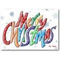 Buon Word Christmas Card