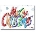 Merry Christmas Word Card