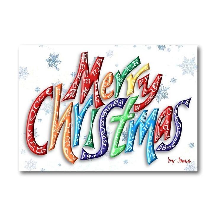 Carte de Joyeux Noël (Mot)