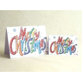 Hyvää joulua - onnittelukortti