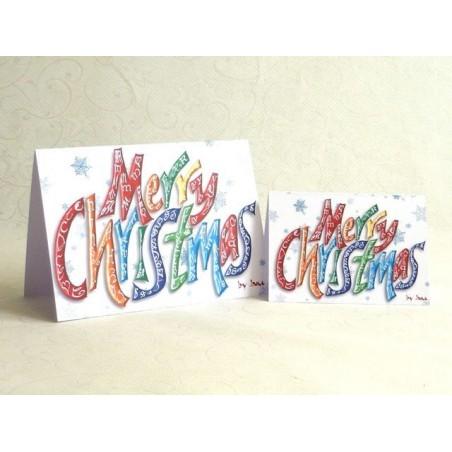 Frohe Weihnachten Grußkarte (Wort)