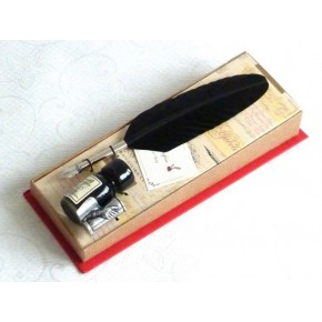 Bolígrafo de caligrafía de pluma negra - pequeño