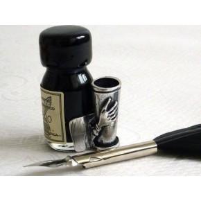 Zwarte veer kalligrafiepen - klein