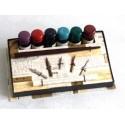 Holz Kalligraphie Dip Pen 6 Farben 5 Nibs