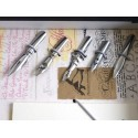 Argento Feather Quill Dip Pen 6 Pennini e inchiostri