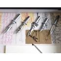 Silberne Feder Quill Dip Pen 6 Nibs & Tinte