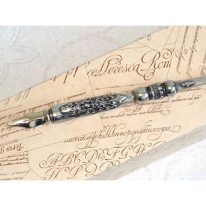 Heraldic Pewter Kalligrafi Dip Pen