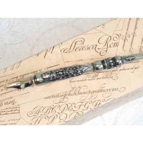 Zinn Kalligraphiefeder - Heraldische
