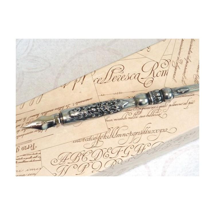 Tinnen kalligrafiepen - Heraldisch