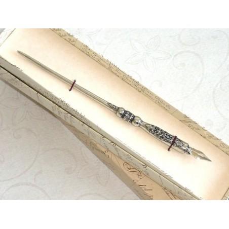 Penna per calligrafia in peltro - Araldica