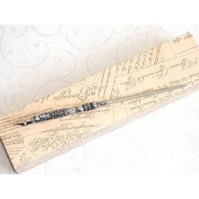 Pewter calligraphy pen - Heraldic
