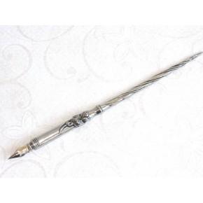 Floral Pewter Kalligrafi Dip Pen