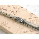 Floral Pewter Caligrafía Dip Pen