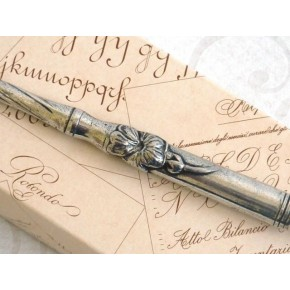 Bolígrafo de caligrafía de peltre - Floral