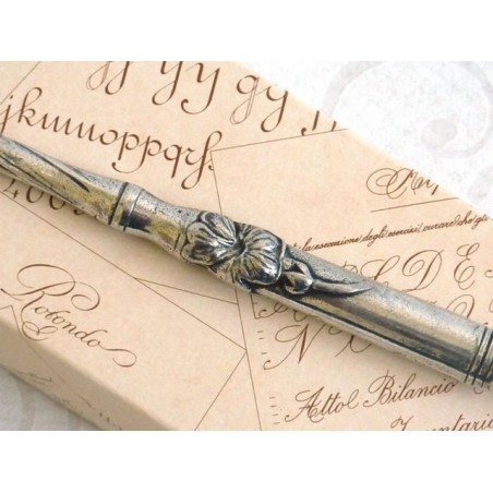 Floral Pewter Calligraphy Dip Pen