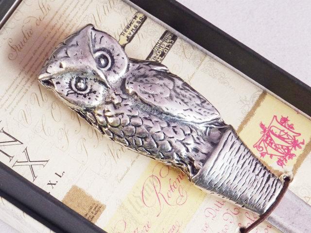 Pewter Owl Letter Opener